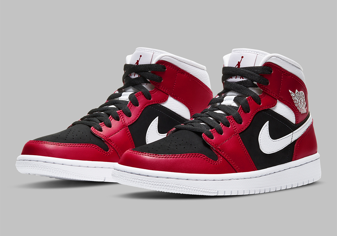 red and black air jordan 1